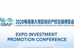 Guangdong-Hong Kong-Macao Greater Bay Area Intellectual Property Trade EXPO 2020:EXPO INVESTMENT PROMOTION CONFERENCE