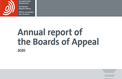 Annual Report 2020 of the Boards of Appeal of the European Patent Office