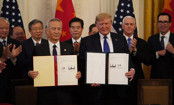 China, US sign phase one trade deal